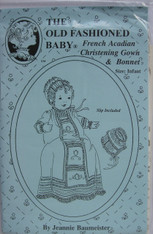 French Acadian Christening Gown & Bonnet by Old Fashioned Baby