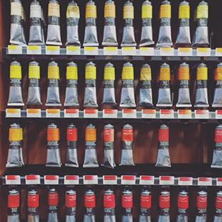 Inside Newtown Art Supplies Store - Paint Tubes