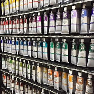 Inside Newtown Art Supplies Store - Art Spectrum Tubes