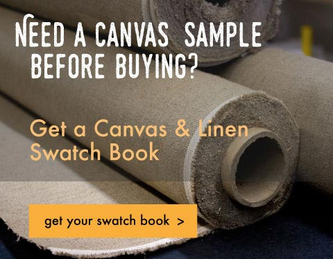 Need a canvas sample before buying? Get a canvas & Linen Swatchbook