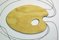 Small Wooden Kidney Palette - 20cm x 30cm