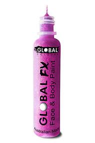 Global FX Face & Body Paint 36ml - Fluoro Neon Purple