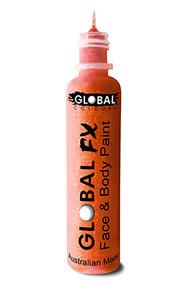 Global FX Face & Body Paint 36ml - Fluoro Neon Orange