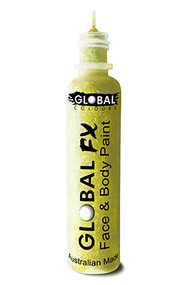 Global FX Face & Body Paint 36ml - Fluoro Neon Yellow