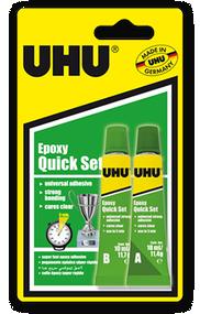 UHU Epoxy Quick Set Glue  - 2 x 10ml