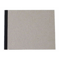 "Pasteboard Cover Sketchbook 100gsm 144pgs - 15cm x 12cm/5.9"" x 4.7"" Landscape - Black"