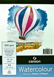 Montval Watercolour Pad 185GSM Medium - A3