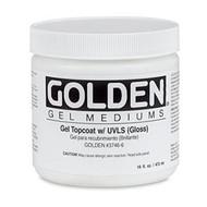 Golden Gel Top Coat with UVLS (Gloss) 236ml
