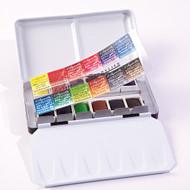 Sennelier Watercolour Metal Pocket Box - 12 Half Pans