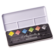Sennelier Watercolour Metal Box - 6 Half Pans + 6 Empty Slots