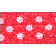 Polka-Dot Satin Ribbon - Red with White Dots