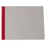 "Pasteboard Cover Sketchbook 100gsm 144pgs - 15cm x 12cm/5.9"" x 4.7"" Landscape - Red"