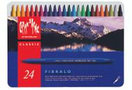 Fibralo Fibre-Tipped Pen Assort. 24 Box Metal   |  185.324