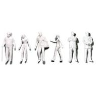 Preiser Unpainted Detailed Various Figures (Standing, Walking, Businessmen) - 1:50