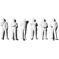 Preiser Unpainted Detailed Standing Figures (Businessmen) - 1:50