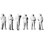 Preiser Unpainted Detailed Standing Figures (Businessmen) - 1:50