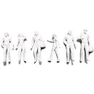 Preiser Unpainted Detailed Walking Figures - 1:100