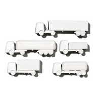 White Polystyrene Lorry Set - 1:200