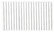 Corrugated Cardboard Strips Fine - Silver Silk Gloss