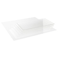 Precision Acrylic Transparent Colourless Glass - 0.3mm x 400mm x 400mm