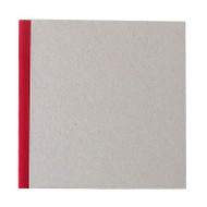 "Pasteboard Cover Sketchbook 100gsm 144pgs - 17cm x 17cm/6.7"" x 6.7"" - Red"
