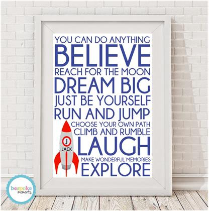 Product image of Words For Boys Print