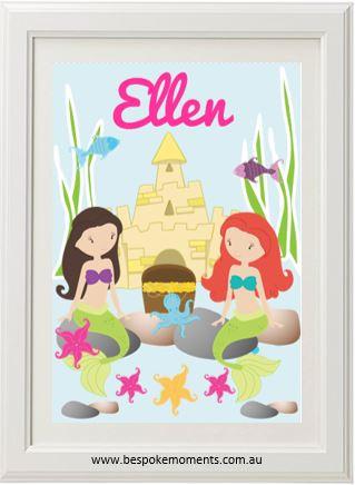 Mermaid Name Print