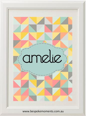 Product image of Geometric Name Print