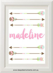 Tribal Arrow Name Print