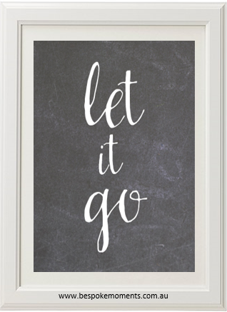 Product image of Let It Go Chalk Print