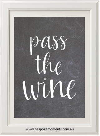 Product image of Pass The Wine Chalk Print