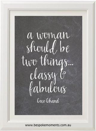 Product image of Classy And Fabulous Chalk Print