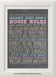 Personalised Grandparents' Rules Print