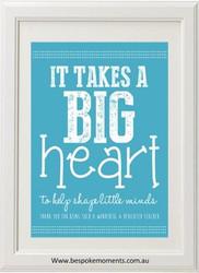 Product image of Big Heart Teacher Print