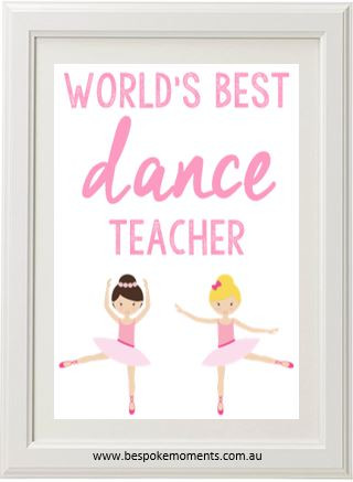 Product image of World's Best Dance Teacher Print