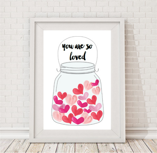 Product image of Jar Of Hearts Print