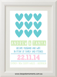 Hearts Wedding Print