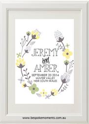 Floral Yellow Wedding Print