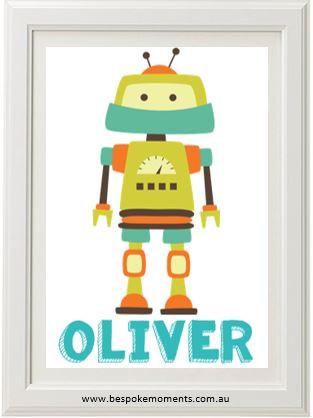 Product image of Robot Name Print