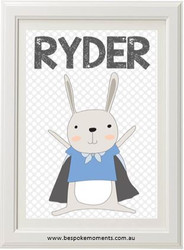 Product image of Superhero Rabbit Name Print