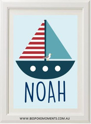 Nautical Boat Name Print