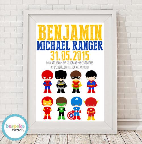 Product image of Superhero Birth Print