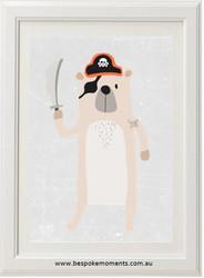 Pirate Bear Print