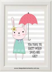 Umbrella Bunny Print