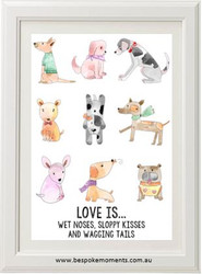Love Is... Dog Print
