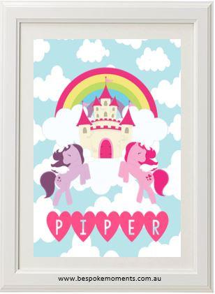 Product image of Unicorn Cloud Castle Name Print