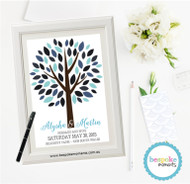Blue Wedding Signing Tree 1