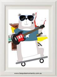 Rockstar Bear Print