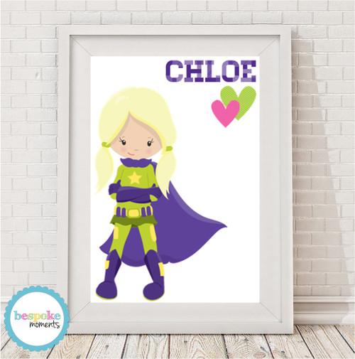 Product image of Girls' Superhero Name Print