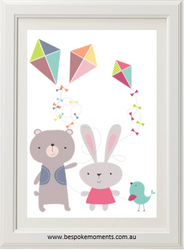 Cute Three Kites Print